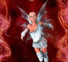 Lovella Fairy iphone case by Vanessa Barklay