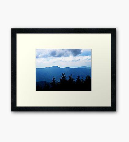 Ridgeline, Blue Ridge Mountains Framed Print