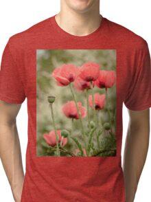 Oriental poppies patterns Tri-blend T-Shirt
