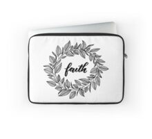 Faith Wreath Black Laptop Sleeve
