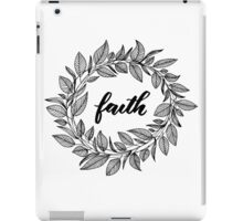 Faith Wreath Black iPad Case/Skin