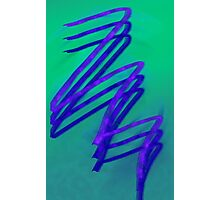 Green and Purple Scribble Design Photographic Print
