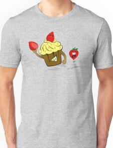 Cupcake Killer & Strawberries Unisex T-Shirt