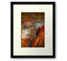 Smoking Saint -I Framed Print