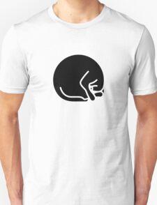 Stylized sleeping black cat T-Shirt