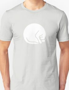 Stylized sleeping white cat T-Shirt