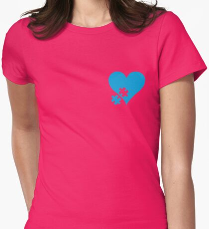 Autism Puzzle Heart Womens Fitted T-Shirt