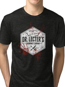 Dr Lecter's Gourmet Dining - White Version Tri-blend T-Shirt