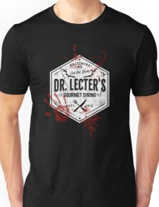 Dr Lecter's Gourmet Dining - White Version Unisex T-Shirt