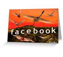 Facebook Rocks Greeting Card