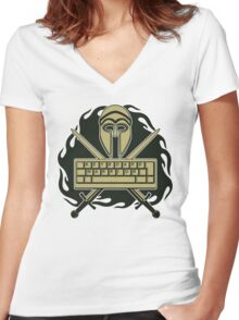 Keyboard Warrior Women's Fitted V-Neck T-Shirt