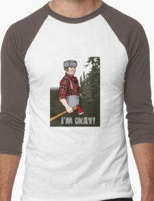 I'm Okay! Men's Baseball ¾ T-Shirt