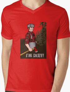 I'm Okay! Mens V-Neck T-Shirt