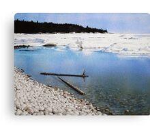 Ice at Pebble Beach Canvas Print
