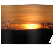 sunsets over the valley Poster