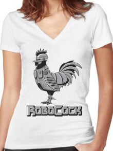 RoboCock Women's Fitted V-Neck T-Shirt