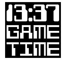 13:37 Game Time Photographic Print