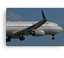 N37252 Nose Shot Continental Airlines Boeing 737-824 Canvas Print