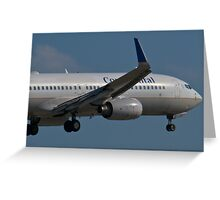 N37252 Nose Shot Continental Airlines Boeing 737-824 Greeting Card