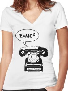 Smart Phone Women's Fitted V-Neck T-Shirt
