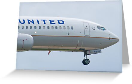Nose Shot N76528 United Boeing 737-824 Approach by Henry Plumley
