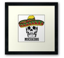 Mexican Muchachos Skull with Sombrero Framed Print