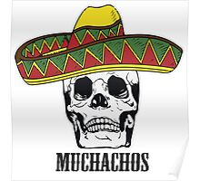Mexican Muchachos Skull with Sombrero Poster