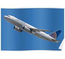United N457UA Airbus A320-232 Poster