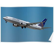 United N33294 Boeing 737-824 on Take Off Poster