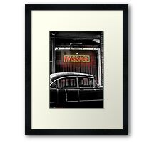 BACK DOOR MAN Framed Print