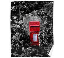 Cornish postbox Poster
