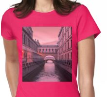 Hermitage Bridge, Saint Petersburg, Russia Womens Fitted T-Shirt