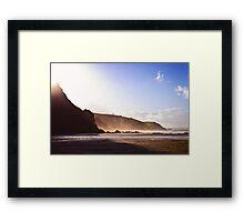 Porthtowan Sun Framed Print