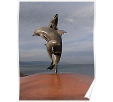 Dolphins Like Artwork - Delfínes Como Arte Poster