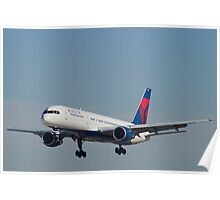 Delta Airlines Boeing 757 Approach KLAS Poster