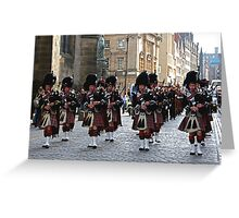 Pipes and Drums Greeting Card