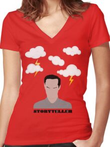 Moriarty - The Storyteller Women's Fitted V-Neck T-Shirt
