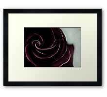purple swirl Framed Print