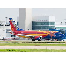 Holding N383SW Boeing 737-7H4 Southwest Airlines Arizona One Photographic Print