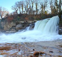 Waterfalls, River Swale,North Yorkshire, England by Ian Alex Blease