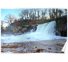 Waterfalls, River Swale,North Yorkshire, England Poster