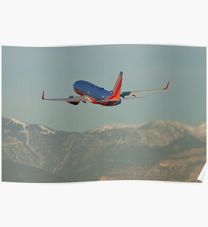 N262WN Southwest Airlines Boeing 737-7H4 Take Off Poster