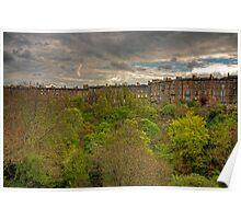 Town Houses of Edinburgh Poster