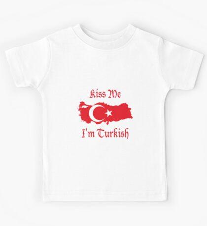 Kiss Me I'm Turkish Kids Tee