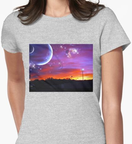 a heavenly sunrise Womens Fitted T-Shirt