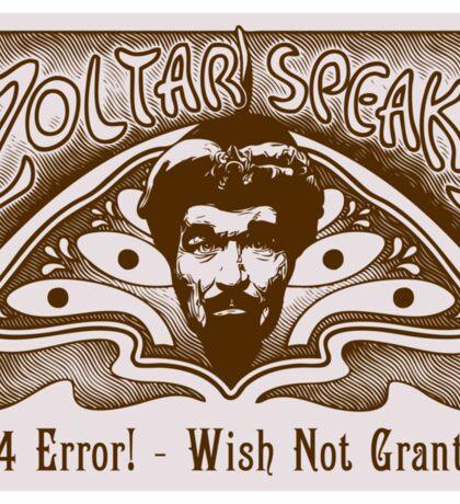 Zoltar Speaks Sticker