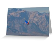 N370SW Southwest Airlines Boeing 737-7H4 Departure Greeting Card