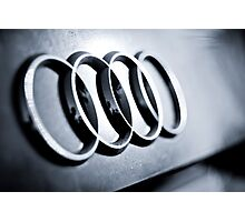 Audi Emblem - Rear Photographic Print
