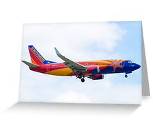 N383SW Arizona One Southwest Airlines Boeing 737-7H4 Approach Greeting Card