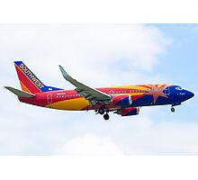 N383SW Arizona One Southwest Airlines Boeing 737-7H4 Approach Photographic Print